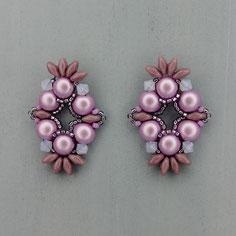 Ohrringe metallic lavendel Cabochon Duo