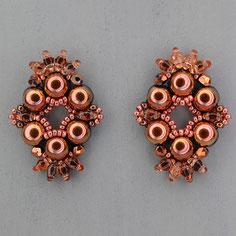 Ohrringe metalic roségold Cabochon Duo