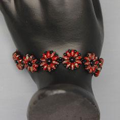 Armband rot-schwarz Miyuki Duo