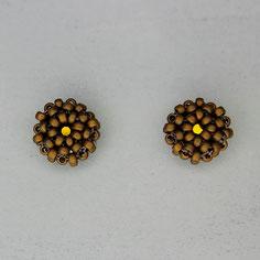 Ohrringe matt bronze Miyuki