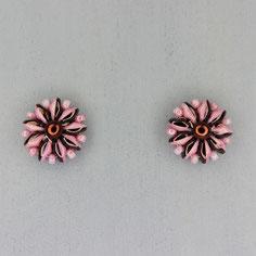 Ohrringe rosa-bronze  Duo Rocailles
