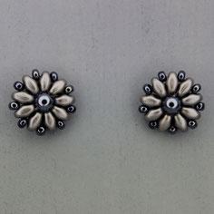 Ohrringe metallic hematite Duo Rocailles