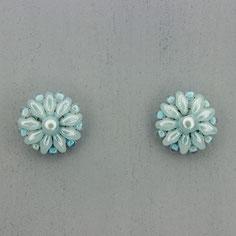 Ohrringe hellblau Duo Rocailles