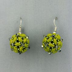 Ohrringe grün-grau Duo Swarovski