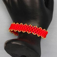 Armband rot-gold Miyuki Duo