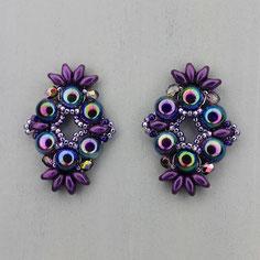 Ohrringe violet Cabochon Duo