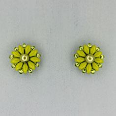 Ohrringe lindgrün Duo Rocailles