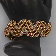 Armband rot-braun-gold  Miyuki