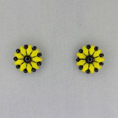 Ohrringe lindgrün-schwarz Duo Rocailles