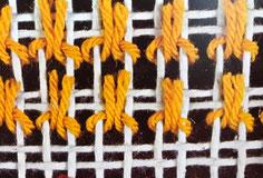 トルコ結び ダブルノットと呼ばれるこちらの結びはTABRIZ(タブリーズ)地方で使われる技法になります。
