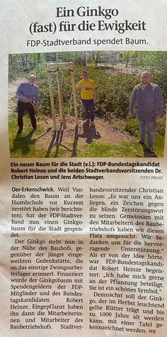 Artikel der Stimberg Zeitung vom 30.04.2021