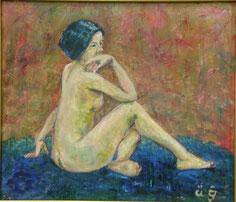 裸婦 油彩10号