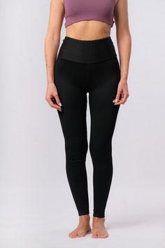 Yoga Leggings schwarz gerippt