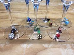 Weinglas-Markierer diverse Ausführungen, im 5-er Set ab CHF 8.-