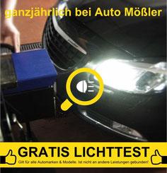 Aktuell bei Auto Mößler: Gratis Lichttest für alle Kfz-Marken und Modelle. Einfach kurz voranmelden und vorbeikommen!