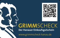 Der Grimmscheck - Der Einkaufsgutschein für Hanau