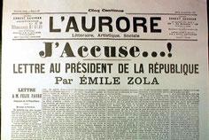 Zola, L'Aurore, 1898.