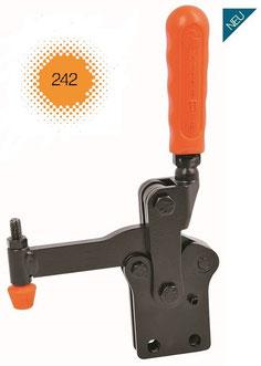 Vertikaler Modularspanner mit Haltearm und Andrückschraube