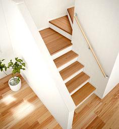 大建工業の杉の階段        画像をクリック!
