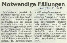Generalanzeiger Schönebeck vom 8. April 2015