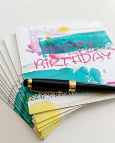 Geburtstagskarte für Ihre Mitarbeiter oder Kunden von UH-ART Design Rupperswil