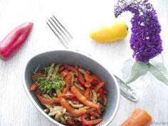 veganer Pfannkuchen mit Paprika
