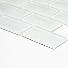 Mosaico Brick CRYSTAL WHITE in vetro lucido 25x50mm