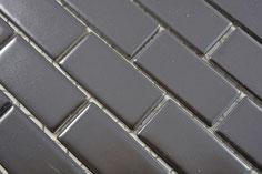 mosaico in ceramica colore nero forma rettangolare opaco