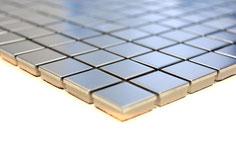mosaico metallo effetto acciaio