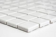 mosaico ceramica colore bianco lucido