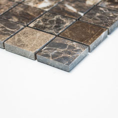 mosaico marmo Impala Brown lucido