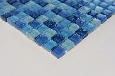 mosaico vetro Glitter Blu