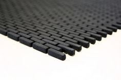 mosaico a mattoncino vetro tessera 5/20mm nero