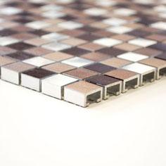 Mosaico 15mm in Alluminio Mix Hot