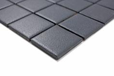 mosaico ceramica antiscivolo per piscina, bagno colore nero