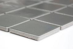mosaico in ceramica colore grigio forma quadrata 48mm lucido