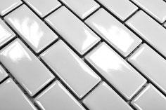 mosaico in ceramica colore bianco forma rettangolare lucido