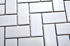 mosaico in ceramica colore bianco forma rettangolo lucida