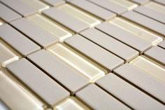 mosaico opaco in ceramica non smaltata colore beige. 8,14 Euro al foglio