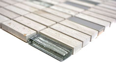 Mosaico Brick Marmo Vetro Metallo 15/48mm London Metal