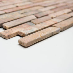 mosaico muretto marmo Rosso Verona