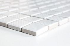 mosaico strutturato ceramica colore bianco lucido