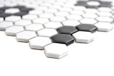 mosaico esagoni bianco nero