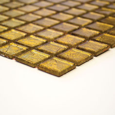 mosaico vetro tessera 23mm foglia oro