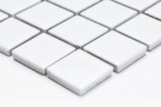 mosaico in ceramica forma quadrata bianco lucido