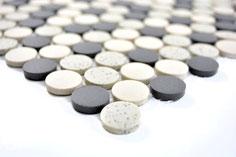 mosaico rotondo in ceramica sale pepe opaco antiscivolo