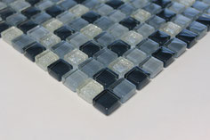 mosaico vetro Glitter Grigio