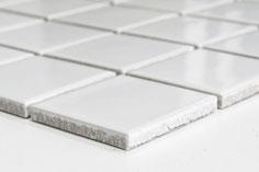 mosaico in ceramica colore bianco forma quadrata 48mm lucido
