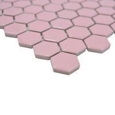 mosaico esagoni rosa