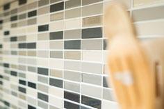 mosaico in ceramica e vetro non smaltato opaco colore mix beige. 6,10 Euro al foglio